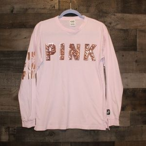 VS PINK long sleeved sequin shirt